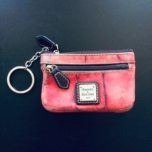 ⭐3/$25⭐ Dooney & Bourke Leather Keychain Coin Case